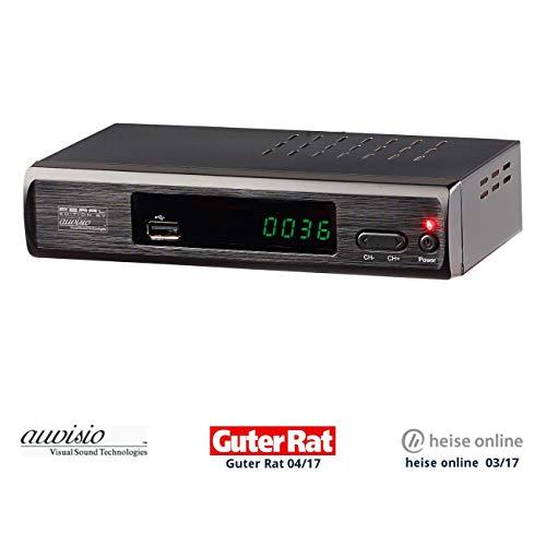 auvisio DVBT Receiver: DVB-T2-Receiver mit H.265/HEVC für Full-HD-TV, HDMI & SCART, LAN, USB (DVBT2 Receiver)