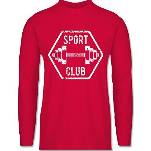 Shirtracer CrossFit & Workout - Sport Club - Herren Langarmshirt Rot