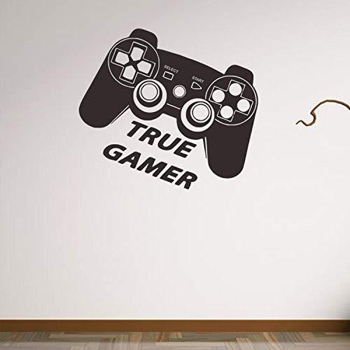 rund Wand Szene Szene Game Controller Wandaufkleber Persönlichkeit Wohnzimmer TV Hintergrund Wanddekoration 43x48cm ()
