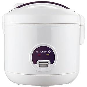 Reishunger Reiskocher (1,2l / 500W / 220V) Warmhaltefunktion, hochwertiger Innentopf, Löffel und Messbecher - Reis für bis zu 6 Personen