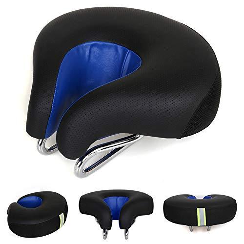 HJUOS Fahrrad-Sitzel kopfloser Sattel Super Soft Armless Magic Pad komfortabel Elastic Bend Design Travel Mountain Bike und Fixed Gear Wide no Nose High Elasticity Men ' S Breathable,Blue
