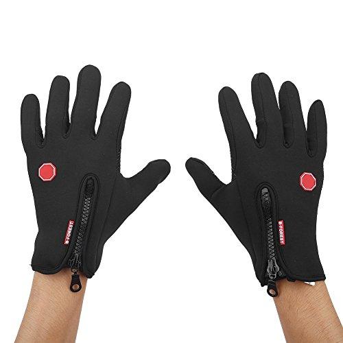 Guantes para Ciclismo en Invierno Caliente Transpirable contra Viento con Pantalla Táctil Dedos Completos...