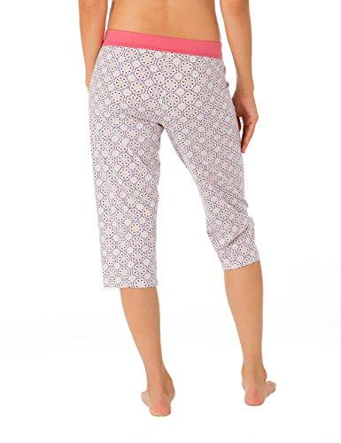 CALIDA Hose 3/4 Favourites Trend 7 - Bas de pyjama - Femme Multicolore - Mehrfarbig (tea rose 126)