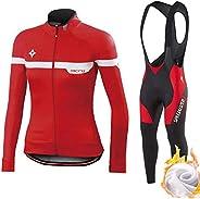 Traje de Ciclismo para Hombre, otoño e Invierno más Cachemir, abrigado y Transpirable, Ropa de Ciclismo de Man