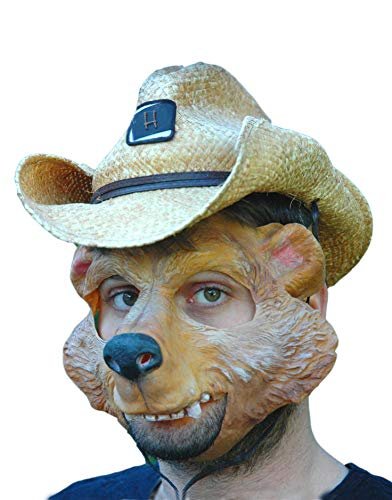 Bär Maske aus Latex - Tiermaske Herbert Honigbär