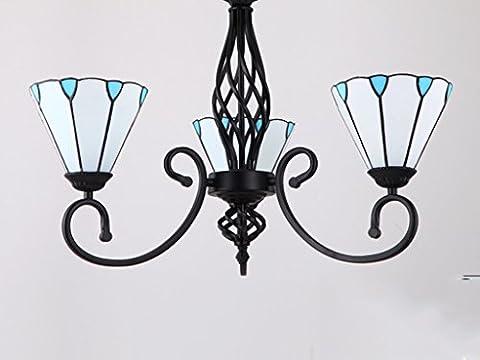PIGE Salon de style méditerranéen lustre lampe d'étude de restaurant lustre style américain atmosphère de style campagnard lustre