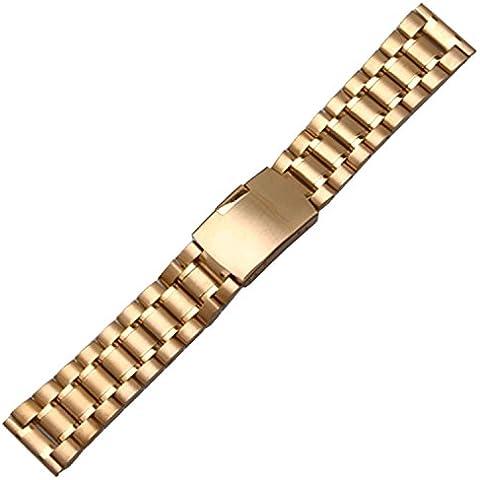 In acciaio inox cinturino bracciale in oro 14mm dritto, legami
