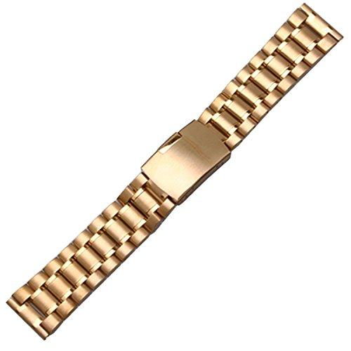 Orologio Bracciale Cinturino in Acciaio Oro, 16mm dritto, legami di