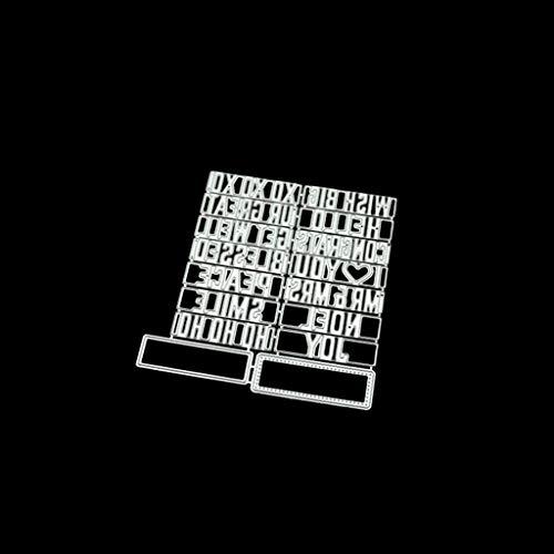 yhdcc44 Étiquette de Voiture Bricolage métal Coupe Meurt Pochoir Scrapbooking Album Photo Timbre Papier Carte Artisanat décor Multifonction Meurt