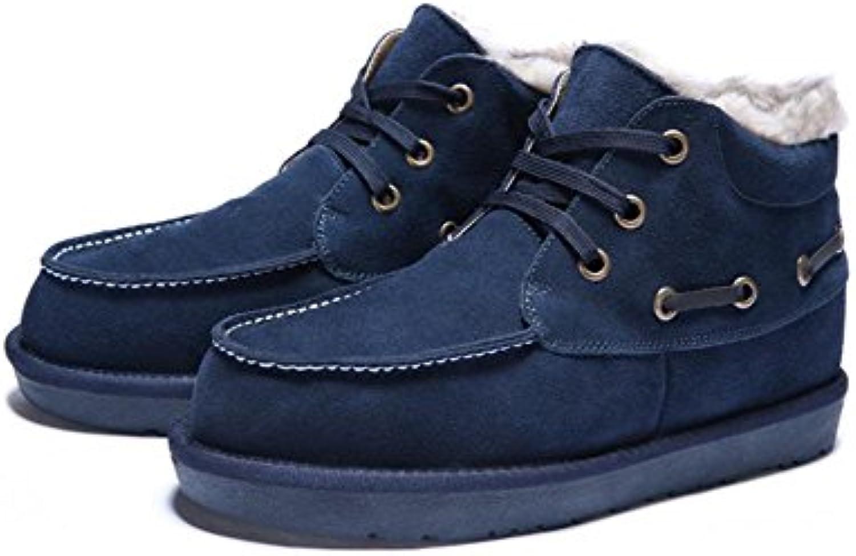 Winter Herren hohe Stiefel mit High Fashion Stiefel mit Stiefeln plus Gr??e   41   black
