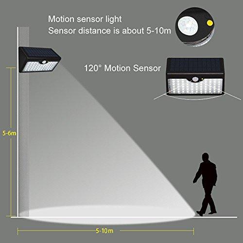 _ Lampada Solare LED Faretti Solari MKT Sensore Movimento Senza Fili Impermeabile Per Esterni Parete Terrazze Giardino (60 LED, 2 Pezzi) miglior prezzo