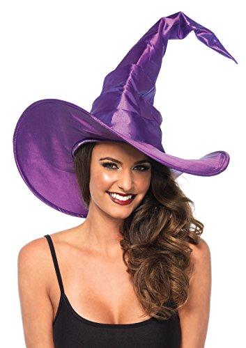 Leg Avenue Kostüm Zubehör Großer Hexen Hut mit Rüschen lila