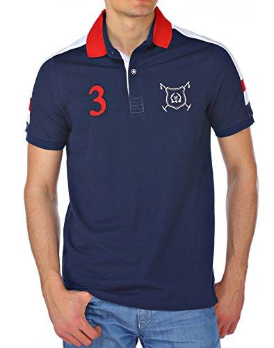 M.Conte Uomo maglietta da polo shirt manica corta Orell blu XXL