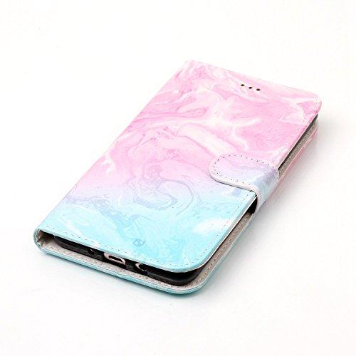 Für Samsung Galaxy J510 Horizontale Flip Case Cover Luxus Blume / Marmor Textur Premium PU Leder Brieftasche Fall mit Magnetverschluss & Halter & Card Cash Slots ( Color : H ) F