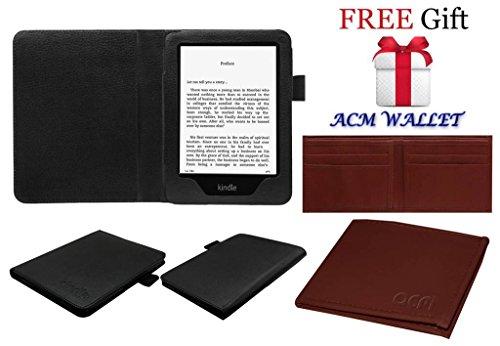 Acm Executive Flip Flap Case for Kindle 6 Tablet Cover Black (FREE Acm Wallet Included)