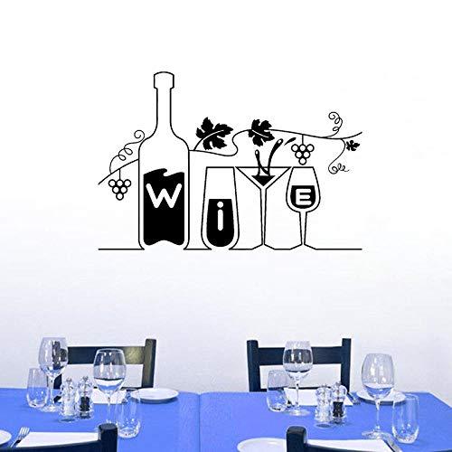 Drink Bar Restaurant Küche Trauben zitieren PVC Hone Dekor Wandaufkleber65CM*43.6CM (Küche-dekor-trauben)
