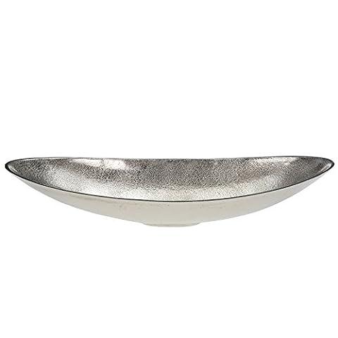 Aluminium Dekoschale Obstschale Schale Schiff Oval Bootsschale Shabby Chic 50 cm