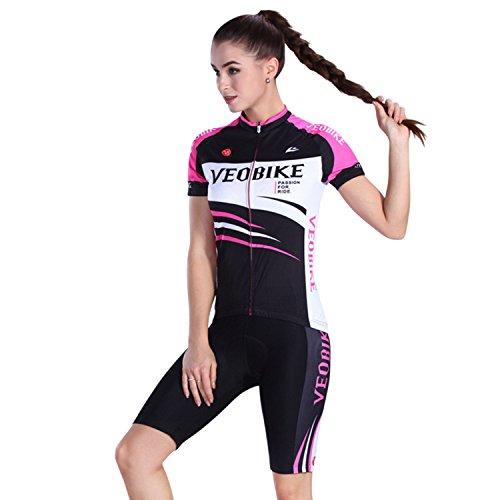 Asvert Malliot Ciclismo Mujer Corta Traje de...