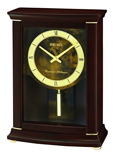 Seiko Westminster/Whittington Dual Chime Mantel Alarm Clock with Pendulam