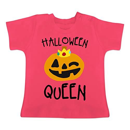 Anlässe Baby - Halloween Queen Kostüm - 1-3 Monate - Fuchsia - BZ02 - Baby T-Shirt Kurzarm