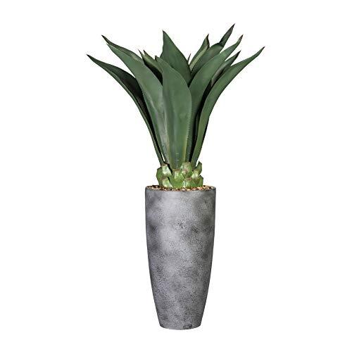 wohnfuehlidee Kunstpflanze Agave, Farbe grün, inklusive Grauer Keramik-Vase, Höhe ca. 125 cm