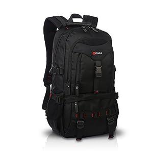 FANDARE Recorrido Alpinista Mochila Morral al Aire Libre Viaje Escuela Bolso Backpack para Ordenador Portátil 17» Pulgadas Mujeres Hombres Oxford Poliéster Azul