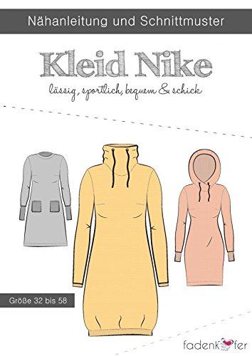 Schnittmuster Fadenkäfer Kleid Nike - Erwachsene in den Größen 32 bis 58 Papierschnittmuster (Kapuze Baumwoll-jersey Mit)