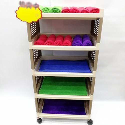 HT trolley Salon-Badekurort Schönheits-Friseur-Laufkatzen-Rollen-Wagen, Plastikspeicher des Rollen-5-Tier Organisieren Gebrauchs-Wagen -