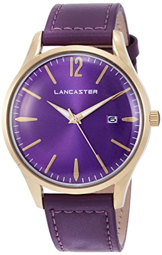"Lancaster Paris ""Heritage"" reloj de pulsera violeta hombre"