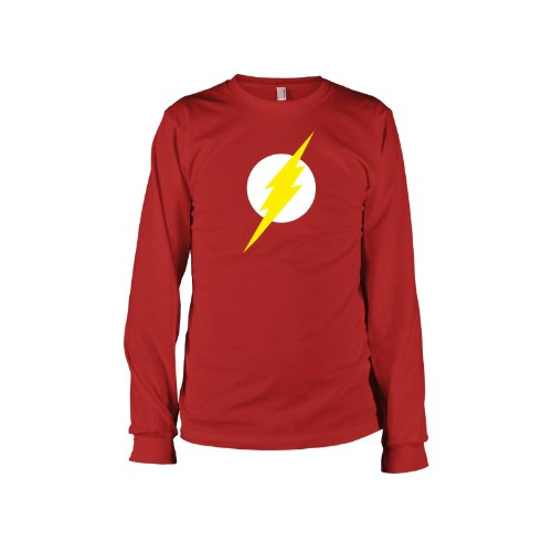 TEXLAB - TBBT: Flash - Langarm T-Shirt Rot