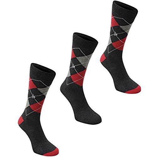Dunlop -  Calze sportive  - Uomo Dark Grey/Red