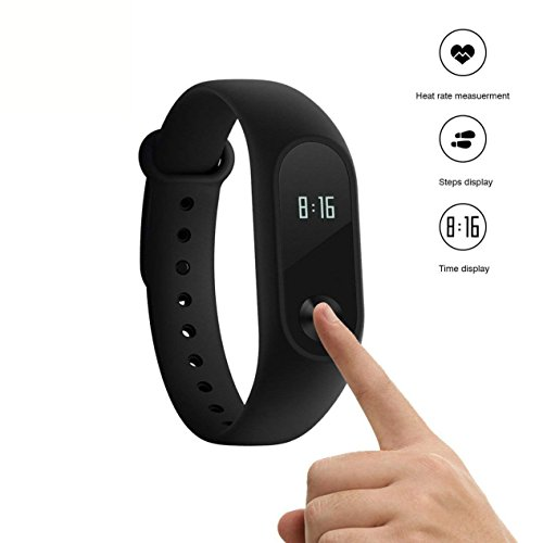 Xiaomi Mi Band 2 Braccialetto Fitness Activity Tracker Cardiofrequenzimetro Pedometro Monitoraggio del Sonno Impermeabile International Version