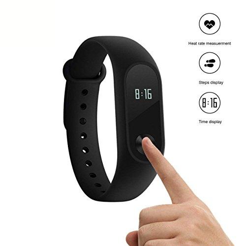 Xiaomi Mi Band 2 Braccialetto Fitness Activity Tracker Cardiofrequenzimetro Pedometro Monitoraggio del Sonno Impermeabile International Version