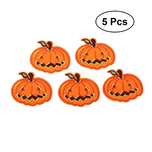 SUPVOX 5 Stk für Halloween, Eisen, aufgestickt, Patch Aufnähen auf Badge Zubehörbekleidung für TE (Modell 5) (Eisen Auf Halloween-patches)