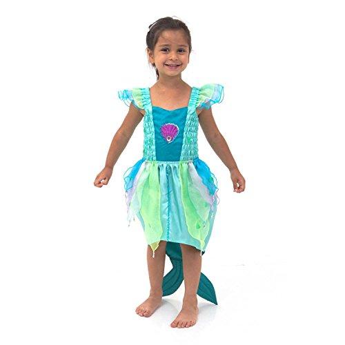 Luxus Meerjungfrau Kostüm für Kinder 3-8 Jahre alt - Größen 104, 116 und 128 - Lucy Locket (3 (1 Kostüm Jahr Kleine Meerjungfrau Alt)