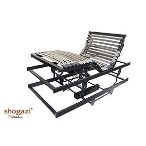 shogazi  Schlafkultur Krankenbett/Pflegebett – elektrischer höhenverstellbarer Lattenrost 3 Motoren – Made in Germany