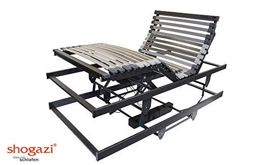 *Krankenbett / Pflegebett – elektrischer höhenverstellbarer Lattenrost 3 Motoren – Made in Germany, Größe:100×200*