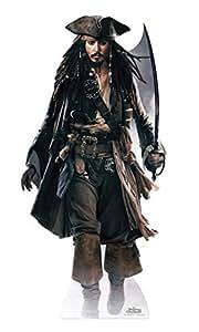 Silhouette En Carton Prédécoupée Géante Jack Sparrow ''Pirates Des Caraibes'' - Taille Unique
