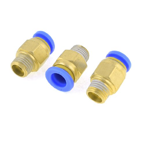 3 Medium Luft (3 PCS 10 mm Loch Rohrpost Push-in Quick Connect Fitting 1/10,2 cm PT Außengewinde)