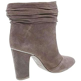 DKNY Womens Sabel Leather Almond Toe Ankle Fashion Boots, Taupe Suede, Size 11.0 US