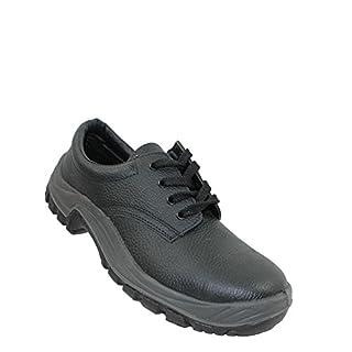 Auda Men's Safety Shoes Black Black Black Size: 2.5