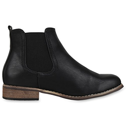Japado - Stivali Chelsea Donna nero marrone