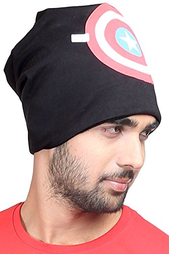 FabSeasons Cotton Beanie Cap and Skull Cap