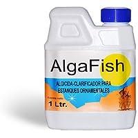 Algicida - Antialgas y Clarificador para lagos, estanques, fuentes, acuarios y peceras ornamentales. Algafish Botella 1 Litro