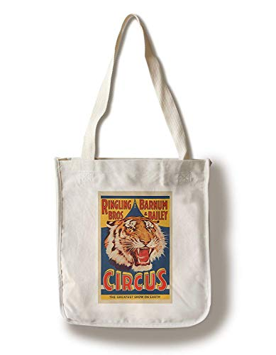 Ringling Bros and Barnum and Bailey Circus Vintage Poster USA Canvas Tote Bag Faltbare Einkaufstasche