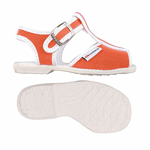 Superga 1200-Cotj, Chaussures à Brides Unisexe-Enfant, Rose Red Coral