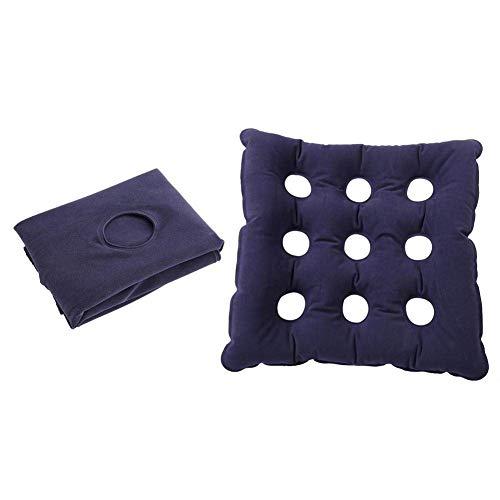 Aufblasbares Kissen für Sitz, Sitzkissen Luftzelle Cushion Anti Dekubitus Air Seat Mat mit 9 Loch Breathable und PVC, Selbstaufblasendes Kissen für längeres Sitzen Autostuhl Bürostuhl Rollstuhl(420)