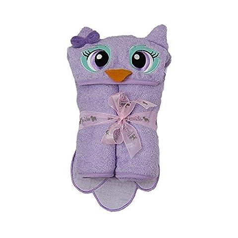 Owl Toddler Towel - Purple 137X101 cm
