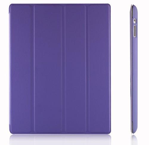 JETech Hülle für iPad 4, iPad 3 und iPad 2, Schutzhülle mit Ständer Funktion und Auto Schlaf/Wachen, Lila (Ipad 3 Cover Lila)