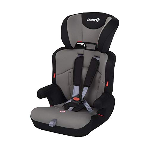 Safety 1st Ever Safe Seggiolino Auto 9-36 Kg, Gruppo 1/2/3 per Bambini dai 9 Mesi fino ai 12 Anni, Facile da Installare, Grigio (Hot Grey)